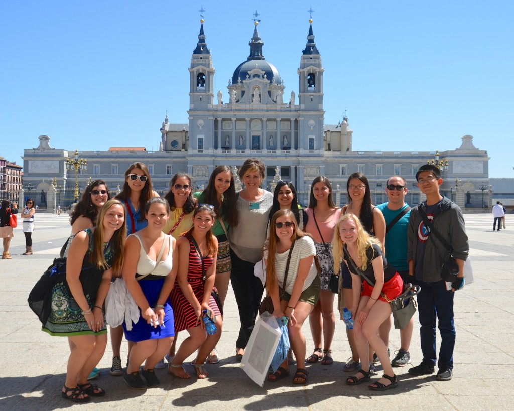 Having fun learning about Madrid with our city guide Ines